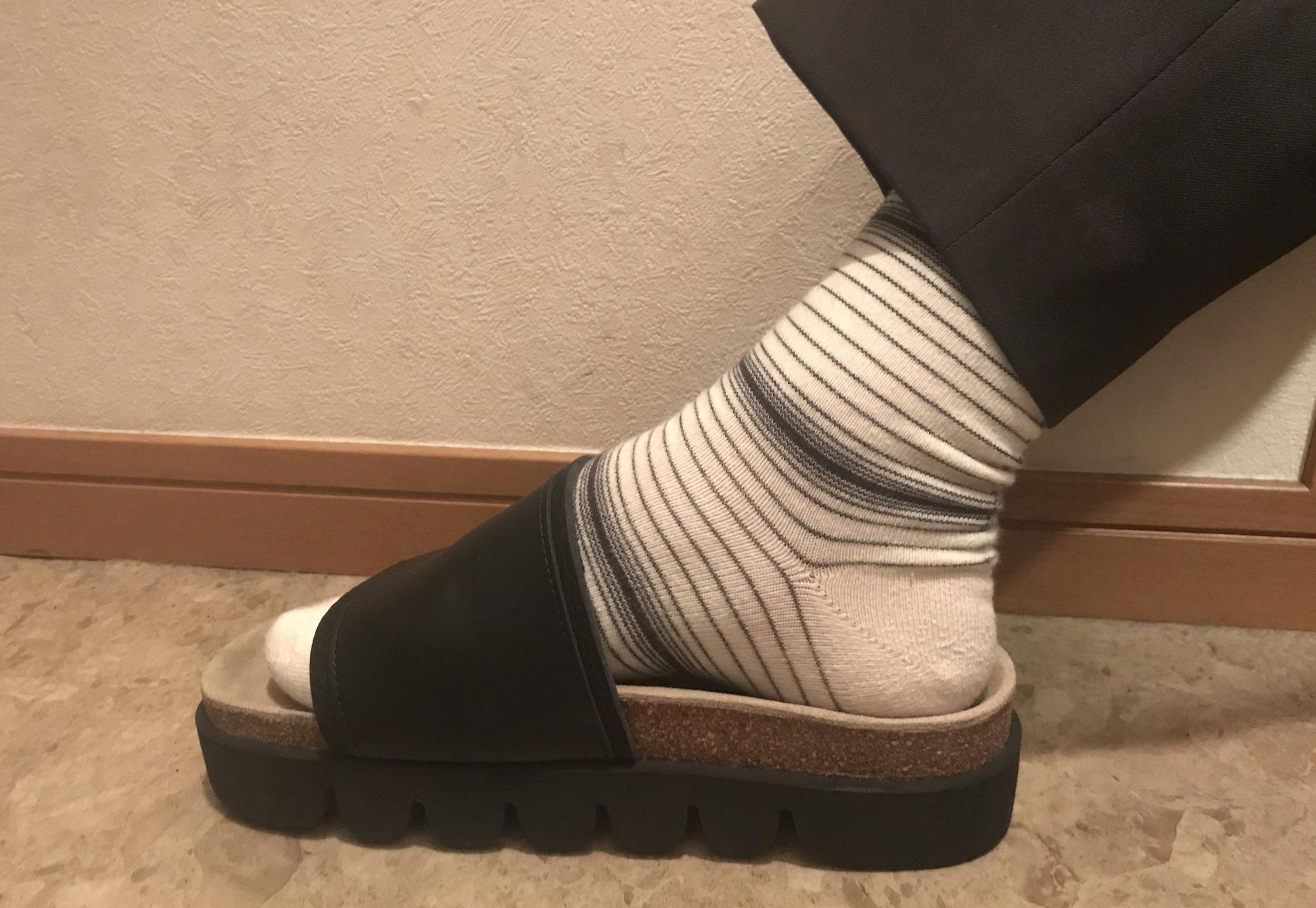 かまぼこサンダルサイズ靴下
